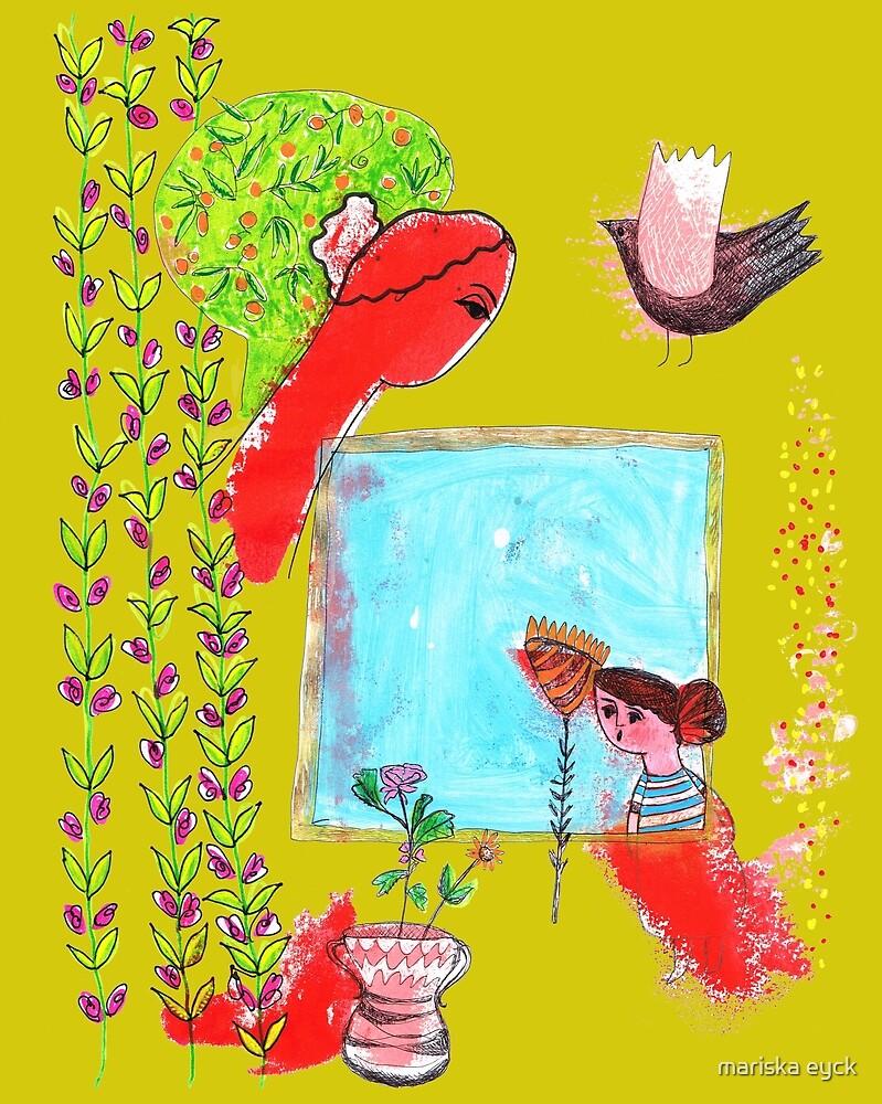 girl looking through the window by mariska eyck