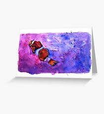 Clownfish out for a Swim Greeting Card