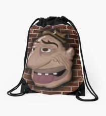 Bum Portrait Drawstring Bag