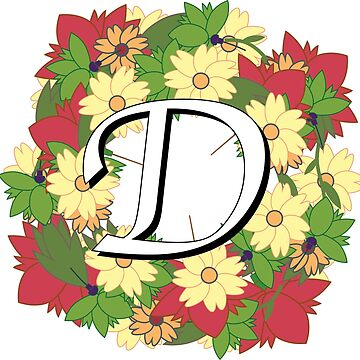 The Letter D - Flower Wreath by Nevl