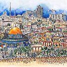 Blick vom Ölberg auf Jerusalem von Hartmut  Buse