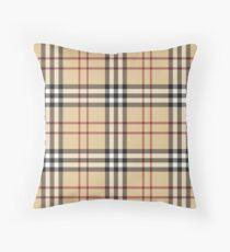 Pattern burberry Throw Pillow