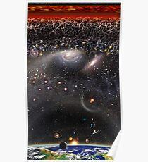 Beobachtbare Universum Abbildung auf Rechteck (vertikales Layout) Poster