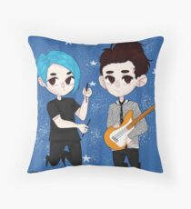 I DONT KNOW HOW BUT THEY FOUND ME (original art) Throw Pillow