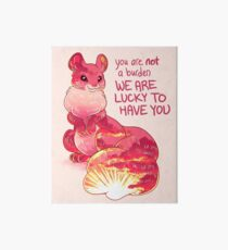 """""""You are Not a Burden. We are Lucky to Have You"""" Sunset Squirrel Art Board"""