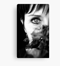 Beauty in her 50s Canvas Print