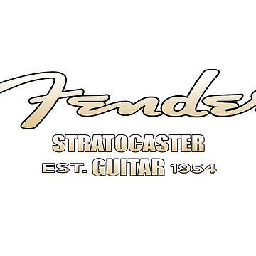 "Fender Strat Guitar EST 1954 ""Gold Limited Edition"" by mugenjyaj"