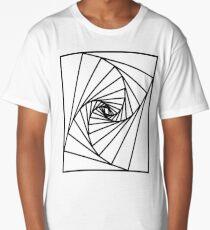Rectangular spiral Long T-Shirt