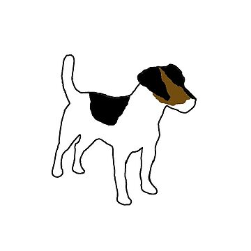 russell terrier white with tri markings silhouette by marasdaughter
