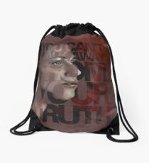 You Can't Walk Away From Your Truth -- Myka Detail Drawstring Bag