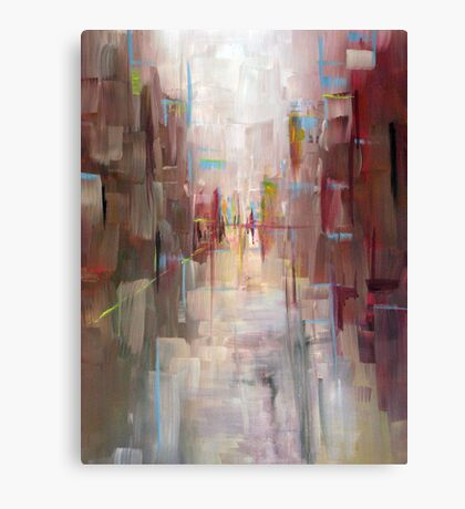Warm City Skyline Abstract Canvas Print