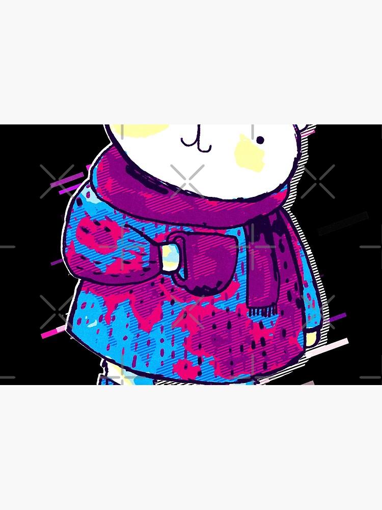 Polar bear cute bear Eighties Retro Violet and Purple de VincentW91