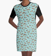 Sea Otters - cute animal pattern by Cecca Designs Graphic T-Shirt Dress