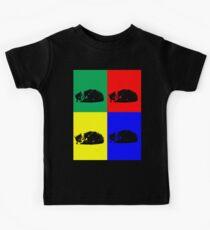 Pop Art Tabby Cat  Kids Tee