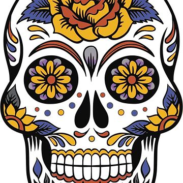 Dia De Los Muertos Day Of The Dead Sugar Skull by Zehda