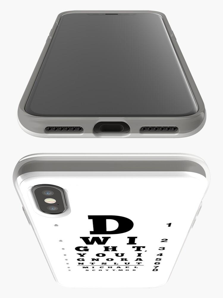 Alternative Ansicht von Dwight, du ignorante Schlampe iPhone-Hülle & Cover