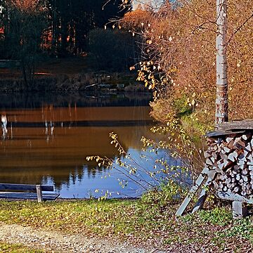 Romantic bench at the pond II | waterscape photography by patrickjobst