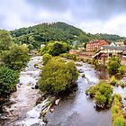 View From The Bridge In Llangollen by StephenRphoto