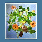 Sketchy August Bouquet  by Ellen Hoverkamp