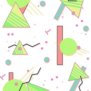 Geometric Eighties Uno by KitsuneDesigns