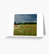 Heaven on the earth and hell in the sky Greeting Card