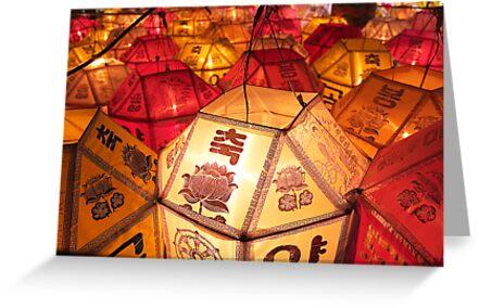Samgwang Lanterns - Samgwang Temple, South Korea by Alex Zuccarelli