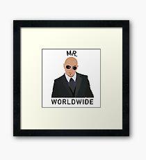 Pitbull Mr Worldwide Framed Print