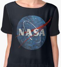 NASA Vintage Emblem Chiffon Top
