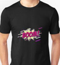 Comic blast Eighties Retro Violet and Purple Unisex T-Shirt
