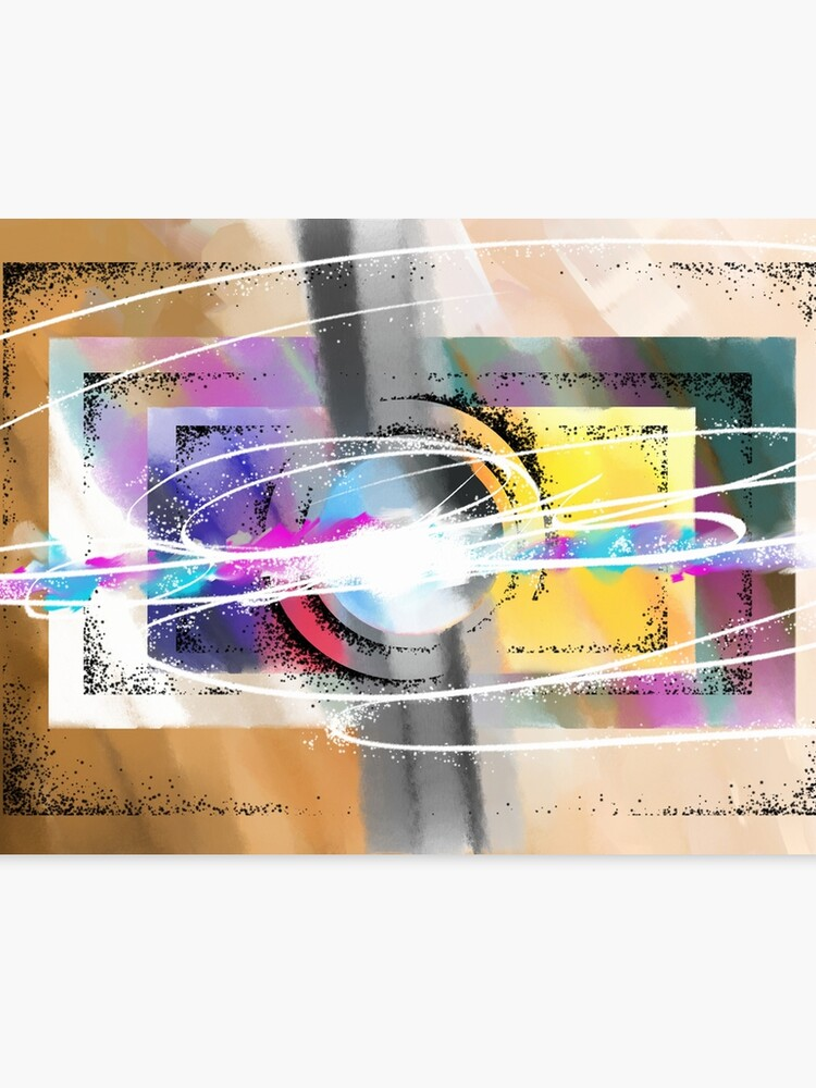 Abstract Art With Sponge Airbrush And Splashed Paint Canvas Print