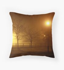 Foggy Evening in County Clare Throw Pillow
