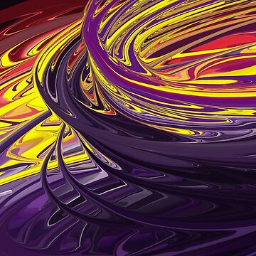 Whirlwind colored - abstract twister with acrylic paint by MegaSitioDesign