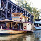 Echuca, Australia, the Wharf, and the Boats by Clive
