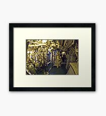 In the Control Room Framed Print