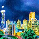 Atlanta Skyline In The Rain by Mark Tisdale