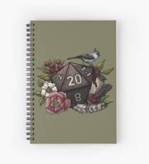Cuaderno de espiral Druid Class D20 - Tabletop Gaming Dice