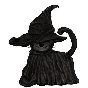Halloween Cat Witch by AtticSalt