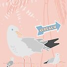 Seagull Beach Party by LIMEZINNIASDES