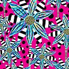 Pinwheel Flowers on Hot Pink by RC-aRtY