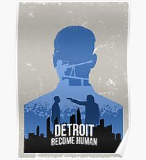 Detroit: Become Human Vintage Poster (Connor) Poster