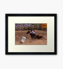 Barrel Racer-WC Framed Print