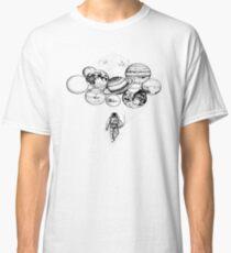 Space Travel Holding Planets Classic T-Shirt