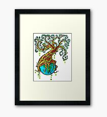 Green Valentine Framed Print