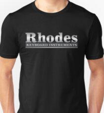 Rhodes electric piano logo. Unisex T-Shirt