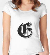 """Fifth Letter"" (Olde English) Women's Fitted Scoop T-Shirt"