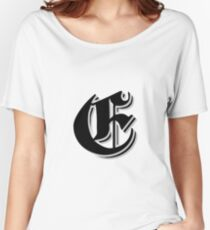 """""""Fifth Letter"""" (Olde English) Women's Relaxed Fit T-Shirt"""