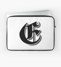 """""""Fifth Letter"""" (Olde English) Laptop Sleeve"""