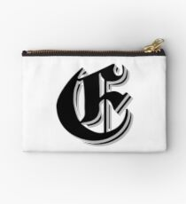 """Fifth Letter"" (Olde English) Studio Pouch"