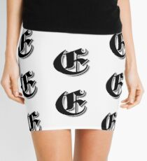 """Fifth Letter"" (Olde English) Mini Skirt"