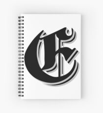 """Fifth Letter"" (Olde English) Spiral Notebook"